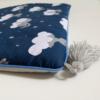 poduszka z zoom 30x40cm śpiące zającki szara bawełna plus szare chwosty