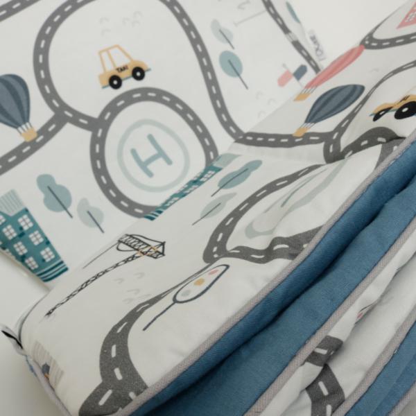 Zestaw niemowlęcy premium kocyk i poduszka zoom