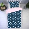 śpiące zajączki z bróżem z tłem