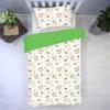 pościel z leniwcami i zielonym z tłem