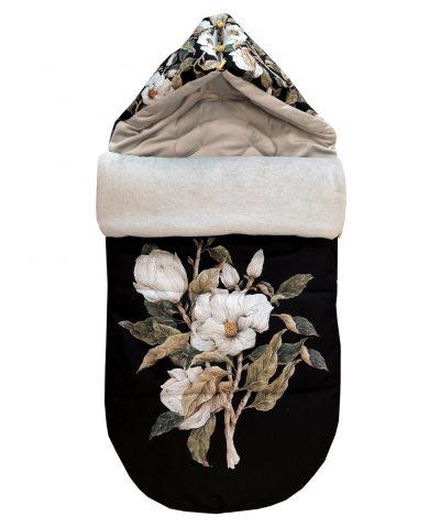 Śpiworek zimowy Magnolias On Black