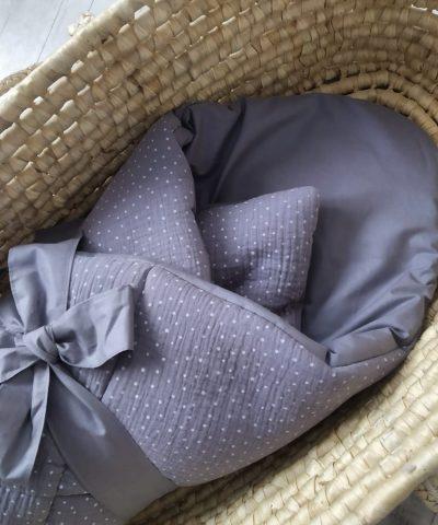 Rożek muślin / bawełna szary